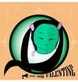 card be my valentine vector image