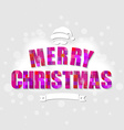 Color Xmas Poster vector image