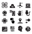 computer electronic technology icon set vector image