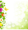 Flower With Grass And Flowers vector image