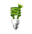 Green light bulb vector image