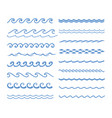 sound water waves set vector image
