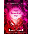 Valentines Day with text space and lo vector image