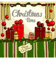 Christmas time background vector image