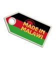 Made in Malawi vector image vector image