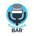 Karaoke club and bar label or logotype vector image
