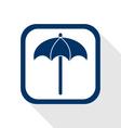 sunshade flat icon vector image