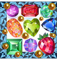Framed picture precious stones vector image vector image