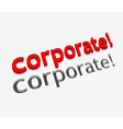 3d corporate text design vector image