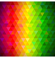 Multicolored triangles pattern background vector image