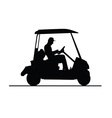 golf vehicle in black and white vector image