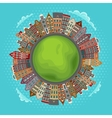 Amsterdam houses little green planet vector image vector image