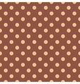 Tile pattern with polka dots on brown background vector image vector image