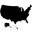 Black USA map vector image