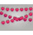 Celebrate heart banner with confetti vector image