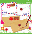 Love envelope - Valentine Scrapbook Elements vector image