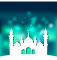 Mosque Islamic background vector image