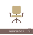 office chair outline icon business sign vector image
