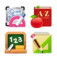 Set of School Equipment Icons vector image