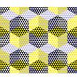 yellow and gray geometry hexagon seamless fabric vector image