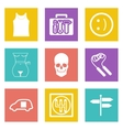 Color icons for Web Design set 28 vector image vector image