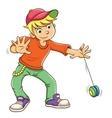 Little boy playing yo yo vector image vector image