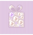 Beauty Pearl Gift Background vector image vector image