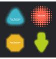 Set of Modern Flat Halftone Design Elements vector image vector image