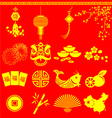 Chinese New Year items Chinese wording translation vector image