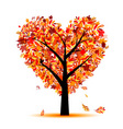 heart shape tree vector image