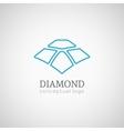 Diamond logo isolated on white vector image