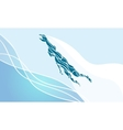 Freestyle Swimmer Female Silhouette Sport vector image