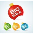 Big Sale Christmas Ball Sticker tags with text vector image