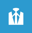 business wear icon white on the blue background vector image