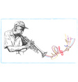 Musician Trumpeter vector image