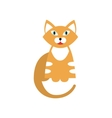 Red Tiger Cat Breed Primitive Cartoon vector image