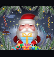 santa claus cute new year hold light gift box vector image