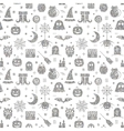 Seamless Halloween silver textured pattern vector image