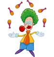 clown juggler cartoon vector image