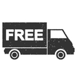 Free Shipment Icon Rubber Stamp vector image