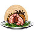 grilled lamb ribs vector image