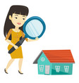 woman looking for house vector image