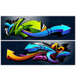 graffiti arrows banners vector image