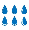 water drop set vector image vector image