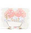 Lovers in the bath vector image vector image
