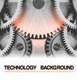 Technology background burning hot gearwheel vector image