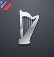 harp icon symbol 3D style Trendy modern design vector image