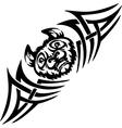 Bat and symmetric tribals - vector image vector image