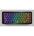 Bright compact keyboard Colorful design vector image