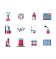 Chemistry Science flat color icons vector image